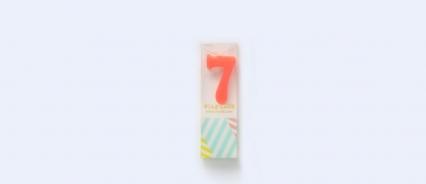 数字7蜡烛